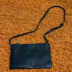 Plain black forever 21 purse